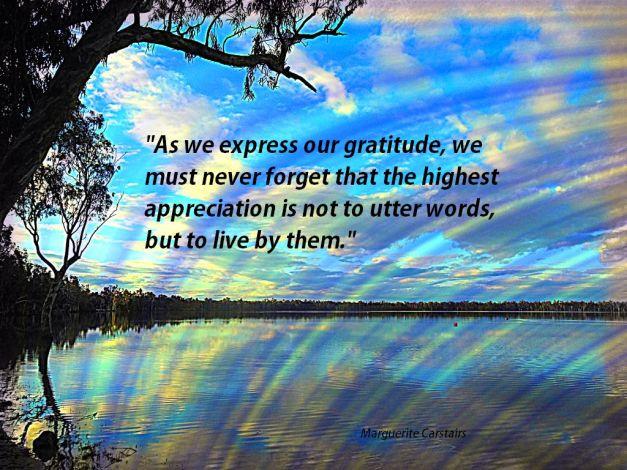 As we express our gratitude,