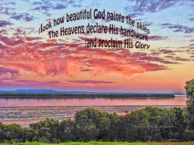 Look how beautiful god paints the sky