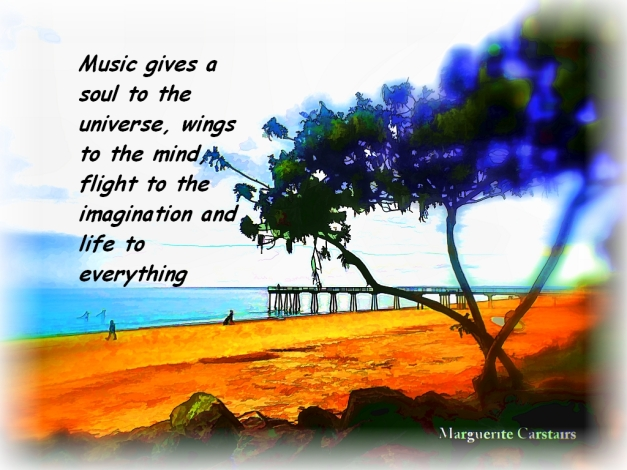 Music gives a soul to the universe, wings to the mind, flight to the imagination and life to everything