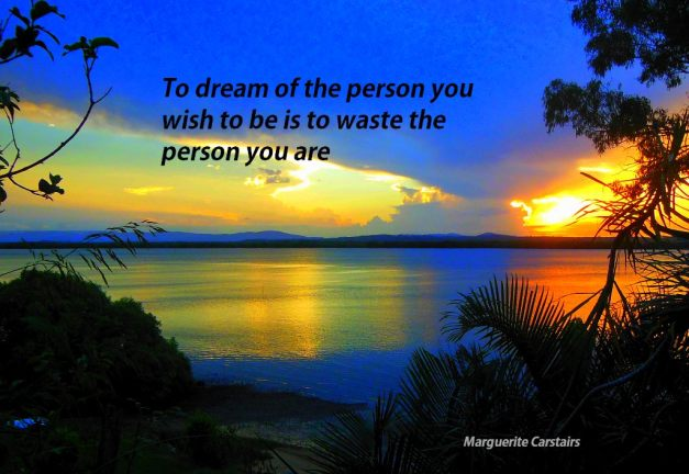 To dream of the person you wish to be is to waste the person you are