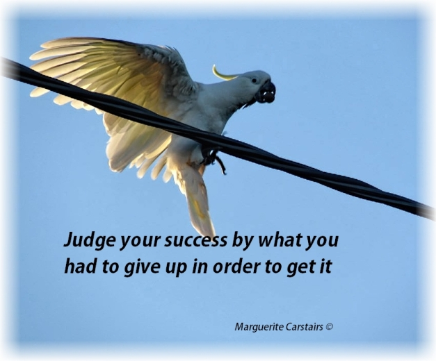 Judge your success by what you had to give up in order to get it